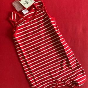 90 3T toddler romper stripe Hanna Andersson NWT